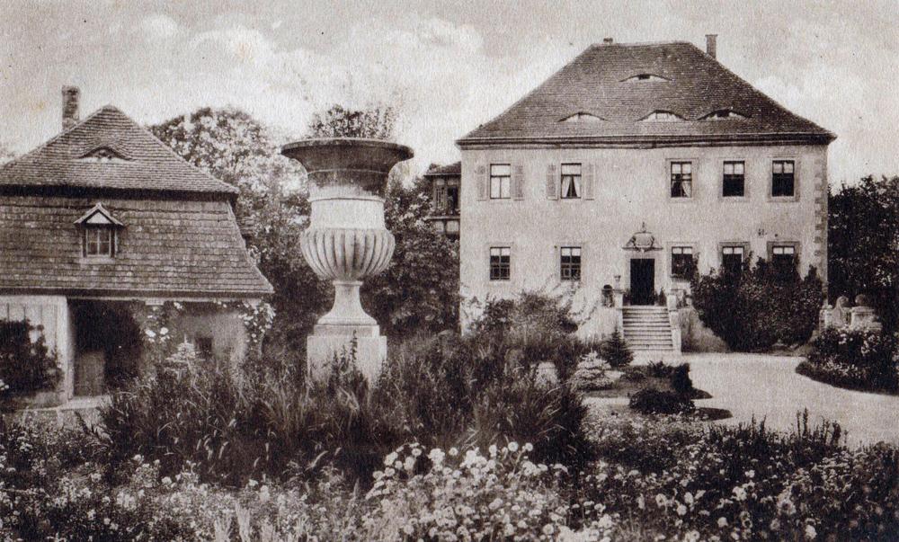 Altes Herrenhaus Nöbdenitz, Ansichtskarte um 1910, Museum Burg Posterstein