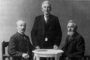 von links: Emil Müller, Franz Windisch und Hermann Tänzler