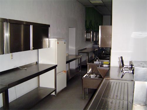Die Küche im Bürgersaal Nöbdenitz