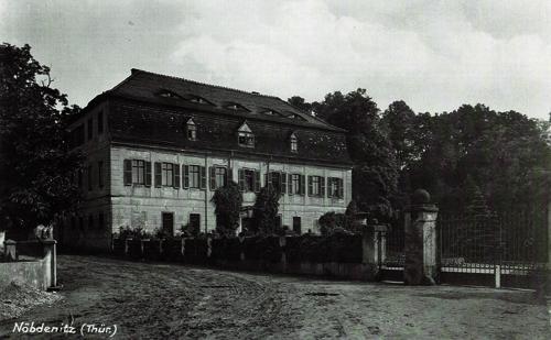 Neues Herrenhaus Nöbdenitz, Ansichtskarte um 1910, Museum Burg Posterstein