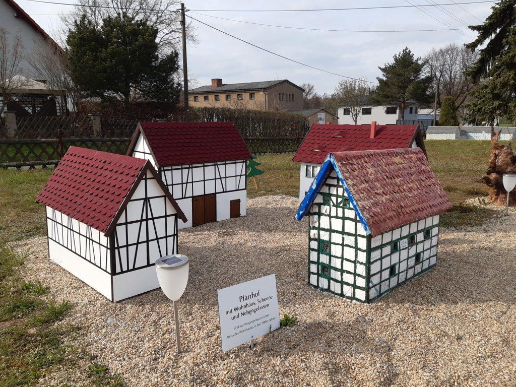 Der Pfarrhof Nöbdenitz im Modell